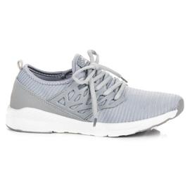 Ax Boxing Sapatos de pano slip-on cinza