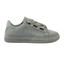 McKey Sapatos Creepersy amarrados com uma fita cinza
