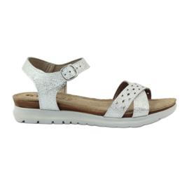 Sandálias embutidas Inblu 038 prata cinza