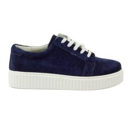 Sapatos de couro Creepersy Filippo 036 marinha