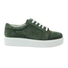 Sapatos de couro Creepersy Filippo 036 verde