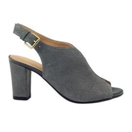 ESPINTO 248 sandálias de cobra cinzenta
