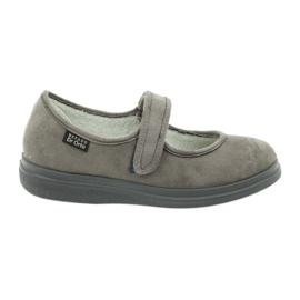 Sapatos femininos Befado pu 462D001 cinza