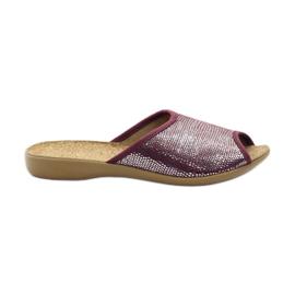 Sapatos femininos Befado pu c 254D072 roxo