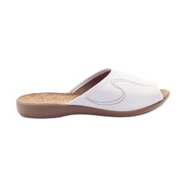 Sapatos femininos Befado pu 254D058 branco
