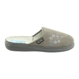 Sapatos femininos Befado pu 132D013 cinza