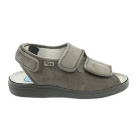 Sapatos femininos Befado pu 676D006 cinza