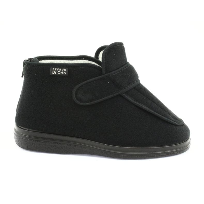 Sapatos femininos Befado pu orto 987D002 preto
