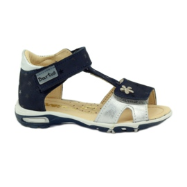 Sandálias de veludo Bartuś 138 azul marinho