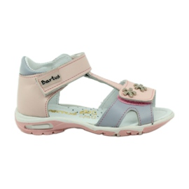 Sandálias de veludo Bartuś 138 pink