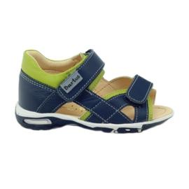 Sandálias de veludo Bartuś 137 azul marinho