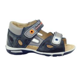 Sandálias de velcro Bartuś 119 cinza escuro