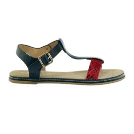 American Club Palmilha de couro de sandálias das mulheres americanas