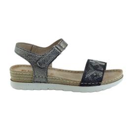 Sandálias confortáveis de grafite prata INBLU cinza
