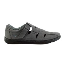 Cinza Sandálias de sapatos masculinos Riko 851