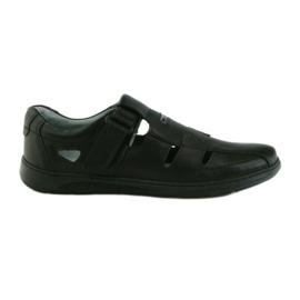 851 sandálias masculinas de sapato Riko cinza