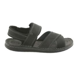 Preto Sandálias masculinas Riko 852 calçados esportivos