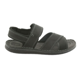 Sandálias masculinas Riko 852 calçados esportivos preto