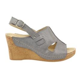 Grey Gregors 533 Sandálias cinza