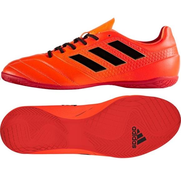 Sapatos Adidas Ace 17.4 In M S77101 para interior vermelho