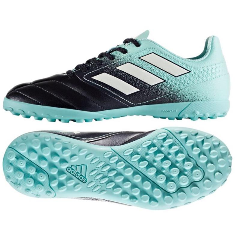 Chuteiras de futebol adidas Ace 17.4 Tf Jr S77121 preto, azul azul