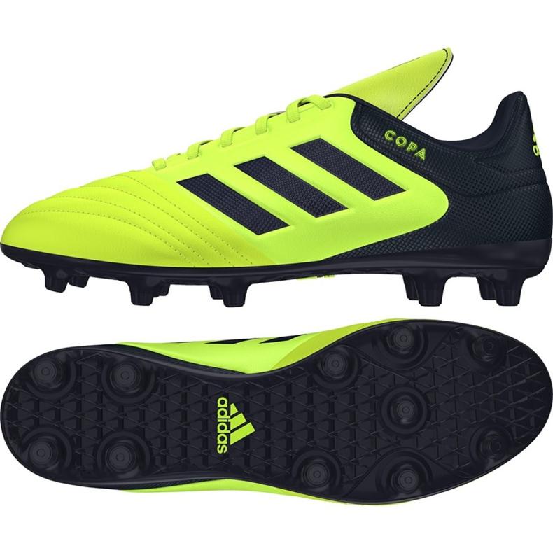 Sapatos de futebol adidas Copa 17.3 Fg M S77143 multicolorido preto, amarelo