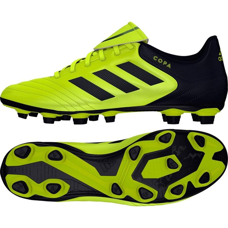 Sapatos de futebol adidas Copa 17.4 FxG M S77162 preto, amarelo preto