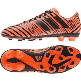Chuteiras de futebol adidas Nemeziz 17.4 FxG Jr S82460 laranja laranja