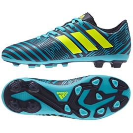 Botas de futebol Adidas Nemeziz 17.4 azul