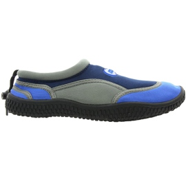 Sapatos de praia de neoprene Aqua-Speed Jr. cinza-marinho