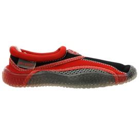 Sapatos de praia de neoprene Aqua-Speed Jr. vermelho-cinza
