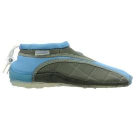 Aqua-Speed Jr. sapatos de praia de neoprene azul-cinza