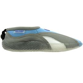 Aqua-Speed Jr. sapatos de praia de neoprene cinza