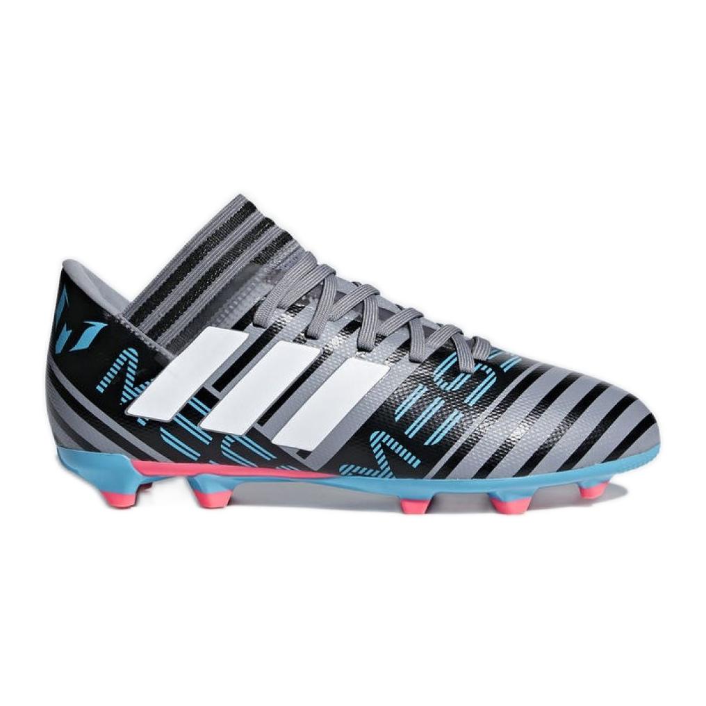 Chuteiras de futebol adidas Nemeziz Messi 17.3 Fg Jr CP9174 preto cinza prata