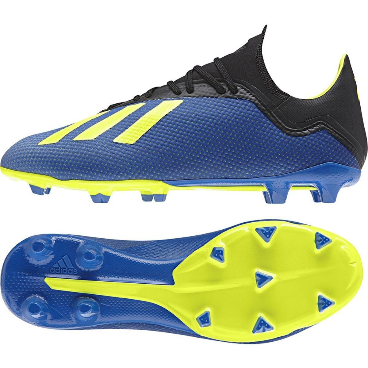 Chuteiras de futebol adidas X 18.3 Fg M DA9335 azul azul marinho