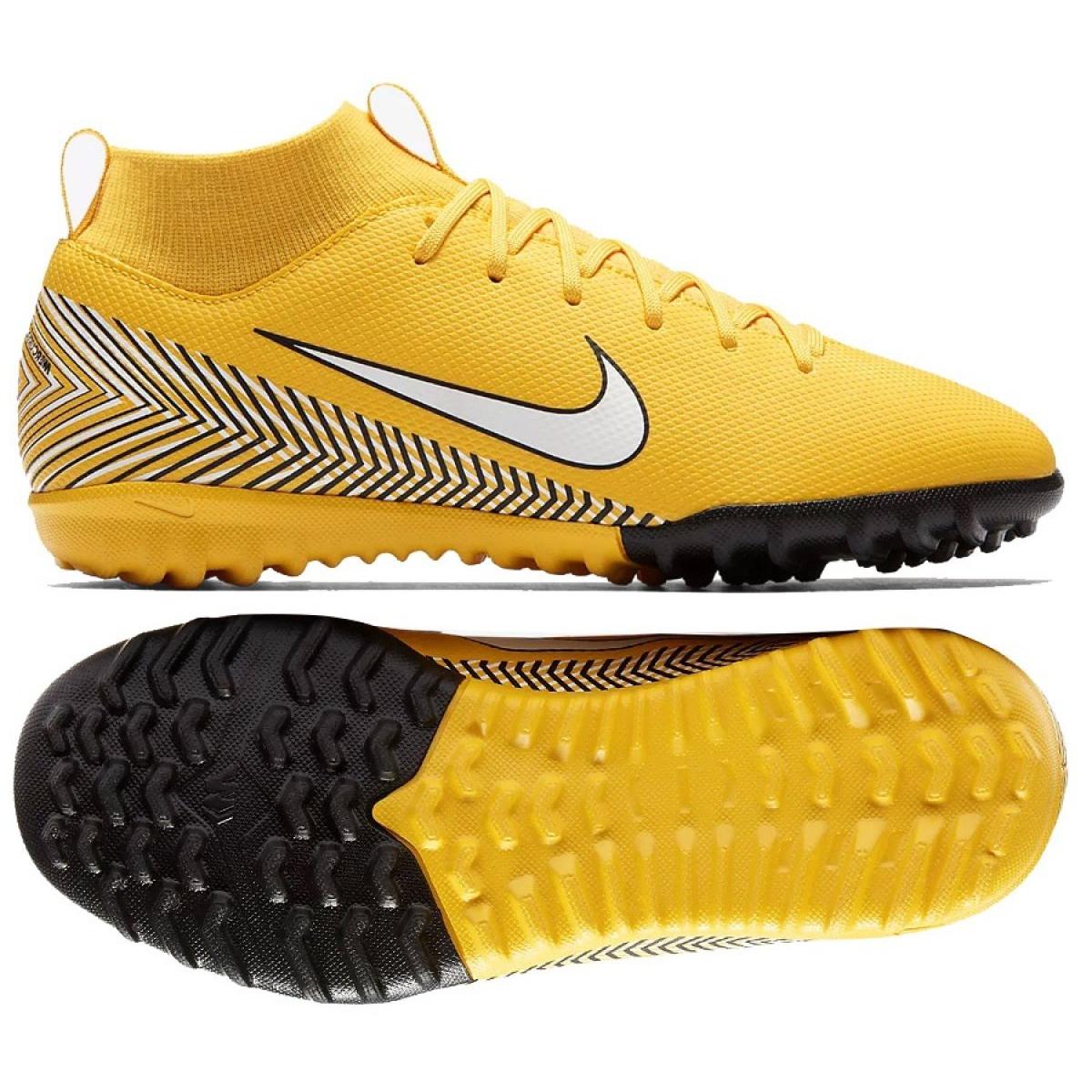 Nike Mercurial Superfly 6 Academia Gs Neymar Tf Jr AO2887 710 amarelo amarelo
