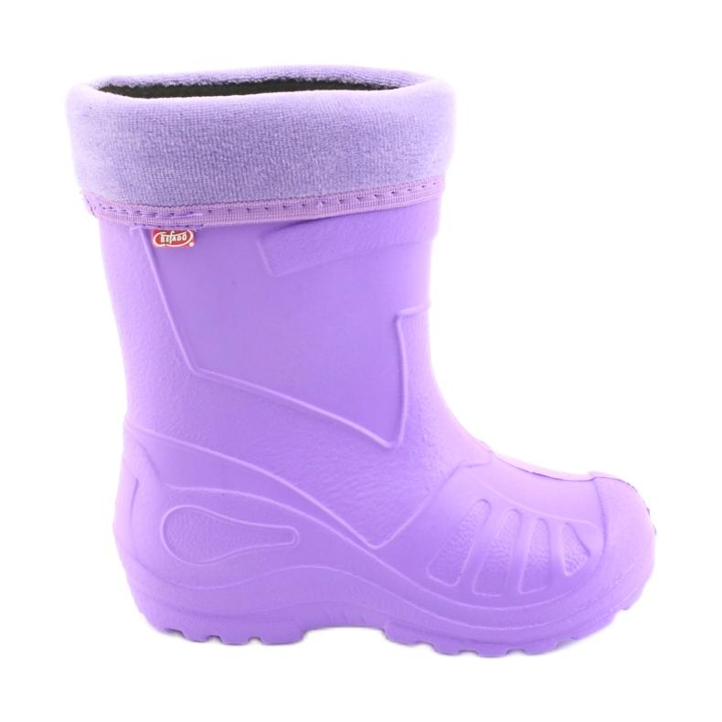 Sapatos infantis Befado galosh-violeta 162P102 roxo