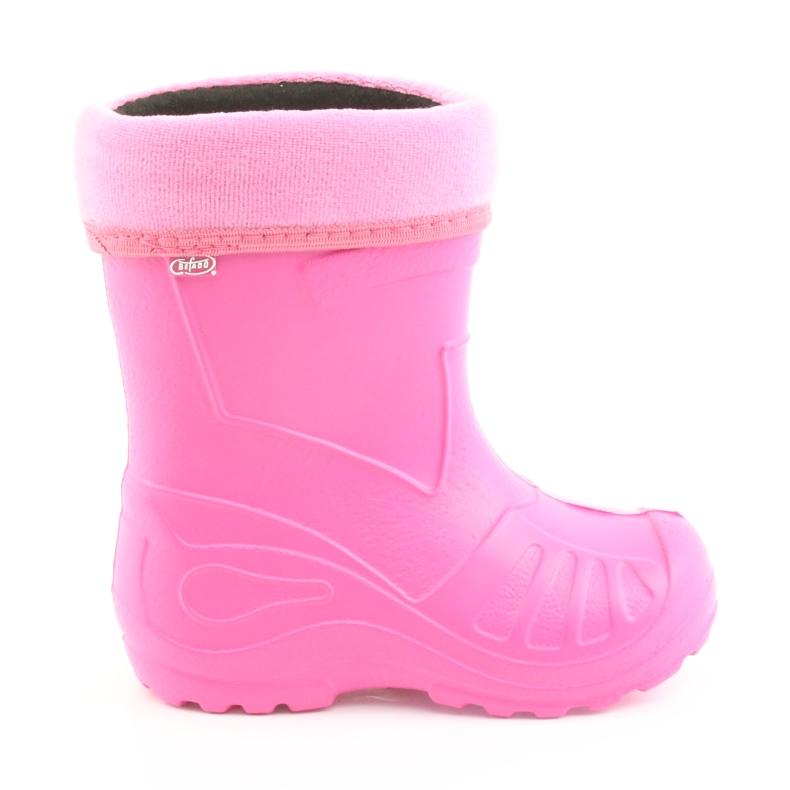 Sapatos infantis Befado rosa galocha 162Y101