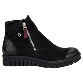 Botas baixas do tornozelo VINCEZA preto