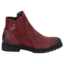 Botas de couro confortáveis VINCEZA vermelho