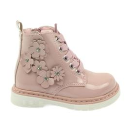 American Club -de-rosa Tornozelo americano botas botas calçado para criança 1424
