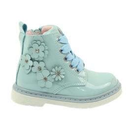 American Club azul Tornozelo americano botas botas calçado para criança 1424