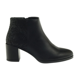 Sapatos de salto alto preto Sergio Leone 542
