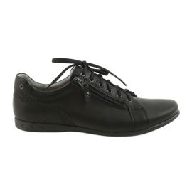 Sapatos casuais Riko masculinos 856 preto