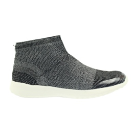 American Club sapatos femininos pretos 17044