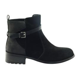 American Club Botas americanas de inverno botas de camurça preto