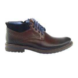 Sapatos masculinos marrons Nikopol 686