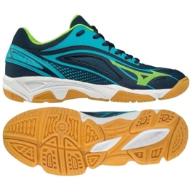 Azul Sapatos de handebol Mizuno Mirage Star 2 Jr. X1GC170536