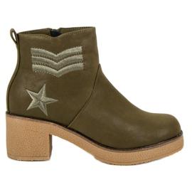 Kylie Botas militares das mulheres verde