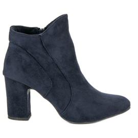 Kylie Botas de camurça elegante azul